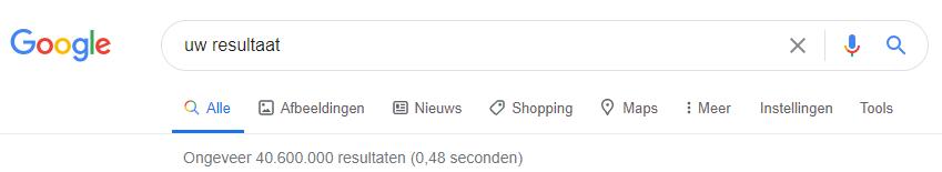 Uw website bovenin de Google resultaten?